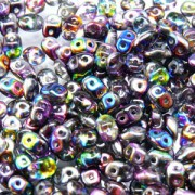 SuperDuo Perlen 2,5x5mm magic violetgrey Crystal DU0500030-95500 ca 24gr