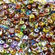 SuperDuo Perlen 2,5x5mm magic red yellow Crystal DU0500030-95600 ca 24gr