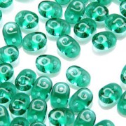 SuperDuo Perlen 2,5x5mm Emerald DU0550720 ca 24gr