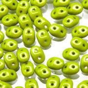 SuperDuo Perlen 2,5x5mm matt Grün DU0553410 ca 24gr