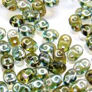 SuperDuo Perlen 2,5x5mm Aqua Celsian DU0560020-22501 ca 24gr