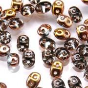 SuperDuo Perlen 2,5x5mm Aqua Capri Gold DU0560020-27101 ca 24gr