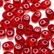 SuperDuo Perlen 2,5x5mm Ruby DU0590080 ca 24gr