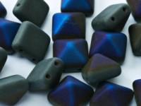 Pyramid Beads 12mm Jet Azuro matt 5 Stück