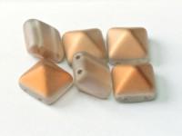 Pyramid Beads 12mm  Crystal Matt Sunset 5 Stück