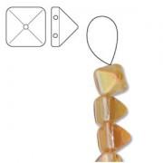 Pyramid Beads 6mm Crystal Apricot medium 10 Stück