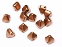 Pyramid Beads 6mm Alabaster Camel Gold 10 Stück