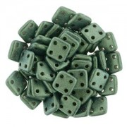 Quadratile Beads metallic suede  light Green ca 10 gr