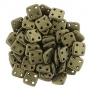 Quadratile Beads metallic suede Gold ca 10 gr