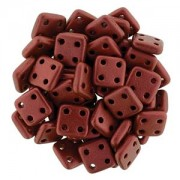 Quadratile Beads metallic matte Lava ca 10 gr