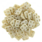 Quadratile Beads opaque luster Champagne ca 10 gr