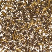 Miyuki Quarter Tila Perlen 5x1.5mm Metallic Bronze ca. 7gr