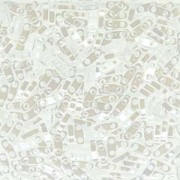 Miyuki Quarter Tila Perlen 5x1.5mm opaque luster White ca. 7gr