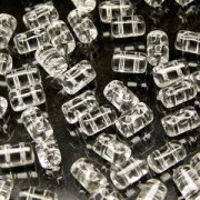 Rulla Beads 3x5mm Crystal ca 10gr