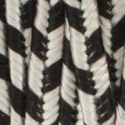 Rayon Soutache ST1230 Silver Gray-Black Stripe ca2,74m