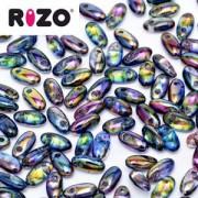 Rizo Glasperlen 2,5x6 mm Magic Blue ca 25gr