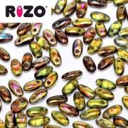 Rizo Glasperlen 2,5x6 mm Magic Green ca 25gr