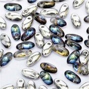 Rizo Glasperlen 2,5x6 mm Crystal Bermuda Blue ca 25gr