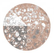 Swarovski Elements Rivolis 14mm Crystal Rose Patina F 6 Stück