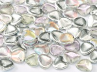 Rose Petal Beads 8x7mm 00030-98530 rainbow Crystal Silver ca 80 Stück
