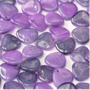 Rose Petal Beads 8x7mm 02010-95501 Alabaster Funky Purple ca 80 Stück