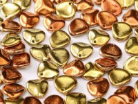 Rose Petal Beads 8x7mm 23980-98542 Jet California Gold Rus ca 80 Stück