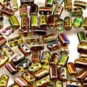 Rulla Beads 3x5mm Magic Yellow Brown ca 10gr
