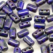Rulla Beads 3x5mm Opaque Blue Dark Travertin ca 10gr