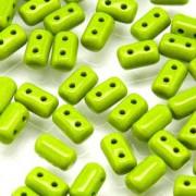 Rulla Beads 3x5mm Opaque Green ca 10gr