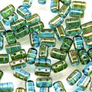 Rulla Beads 3x5mm Aquamarine Celsian ca 10gr