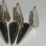 Spikes Glasperlen 17x7mm Nickel coated 6 Stück