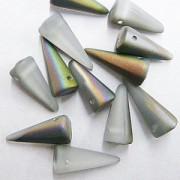Spikes Glasperlen 17x7mm Crystal Vitrail matt 6 Stück