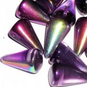 Spikes Glasperlen 18x12mm Magic Lilac 6 Stück
