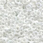 Miyuki Spacer Beads 3X1,3mm opaque luster White ca 10 gr