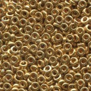Miyuki Spacer Beads 3X1,3mm galvanized Gold ca 10 gr