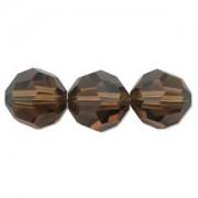 Swarovski Elements Perlen Kugeln 6mm Smoked Topaz 10 Stück