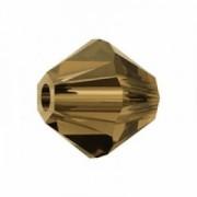Swarovski Elements Perlen Bicones 2,5mm Smoked Topaz 50 Stück