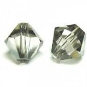 Swarovski Elements Perlen Bicones 3mm Crystal Satin beschichtet 100 Stück
