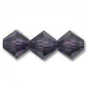 Swarovski Elements Perlen Bicones 3mm Purple Velvet 50 Stück