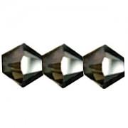 Swarovski Elements Perlen Bicones 4mm Crystal Silver Night 50 Stück