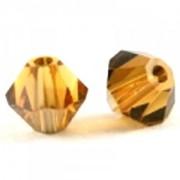 Swarovski Elements Perlen Bicones 4mm Topaz Satin 100 Stück