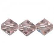 Swarovski Elements Perlen Bicones 3mm Light Amethyst AB beschichtet 100 Stück