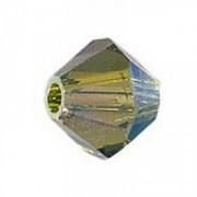 Swarovski Elements Perlen Bicones 3mm Olivine AB 2X beschichtet 100 Stück