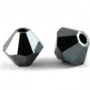 Swarovski Elements Perlen Bicones 4mm Jet HEM2x beschichtet 100 Stück