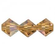 Swarovski Elements Perlen Bicones 6mm Topaz AB beschichtet 25 Stück