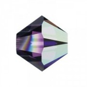 Swarovski Elements Perlen Bicones 6mm Amethyst AB beschichtet 25 Stück