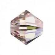 Swarovski Elements Perlen Bicones 6mm Rose AB beschichtet 25 Stück