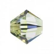 Swarovski Elements Perlen Bicones 6mm Jonquil AB beschichtet 50 Stück