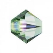 Swarovski Elements Perlen Bicones 6mm Peridot AB beschichtet 25 Stück