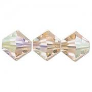 Swarovski Elements Perlen Bicones 6mm Light Peach AB beschichtet 25 Stück